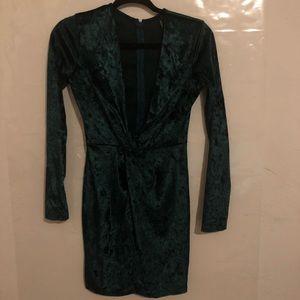 Dark green dress!